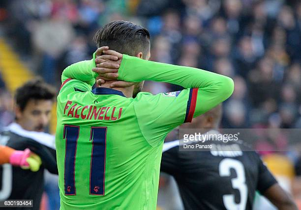 Diego Falcinelli of FC Crotone show his dejection during the Serie A match between Udinese Calcio and FC Crotone at Stadio Friuli on December 18 2016...