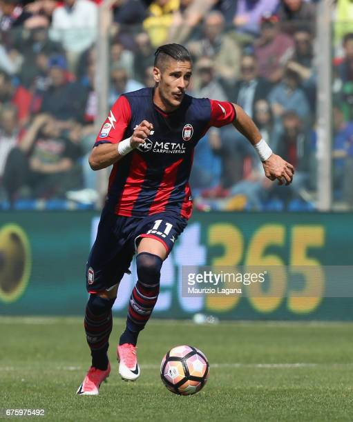 Diego Falcinelli of Milan during the Serie A match between FC Crotone and AC Milan at Stadio Comunale Ezio Scida on April 30 2017 in Crotone Italy