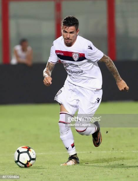 Diego Farias of Cagliari during the PreSeason Friendly match between FC Crotone and Cagliari Calcio at Stadio Comunale Ezio Scida on August 5 2017 in...