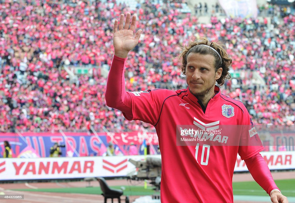 <a gi-track='captionPersonalityLinkClicked' href=/galleries/search?phrase=Diego+Forlan&family=editorial&specificpeople=171096 ng-click='$event.stopPropagation()'>Diego Forlan</a> #10 Cerezo Osaka looks on after the J.League match between Cerezo Osaka and Gamba Osaka at Nagai Stadium on April 12, 2014 in Osaka, Japan.