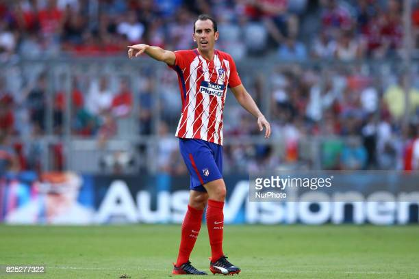 Diego Godin of Atletico de Madrid durign the first Audi Cup football match between Atletico Madrid and SSC Napoli in the stadium in Munich southern...