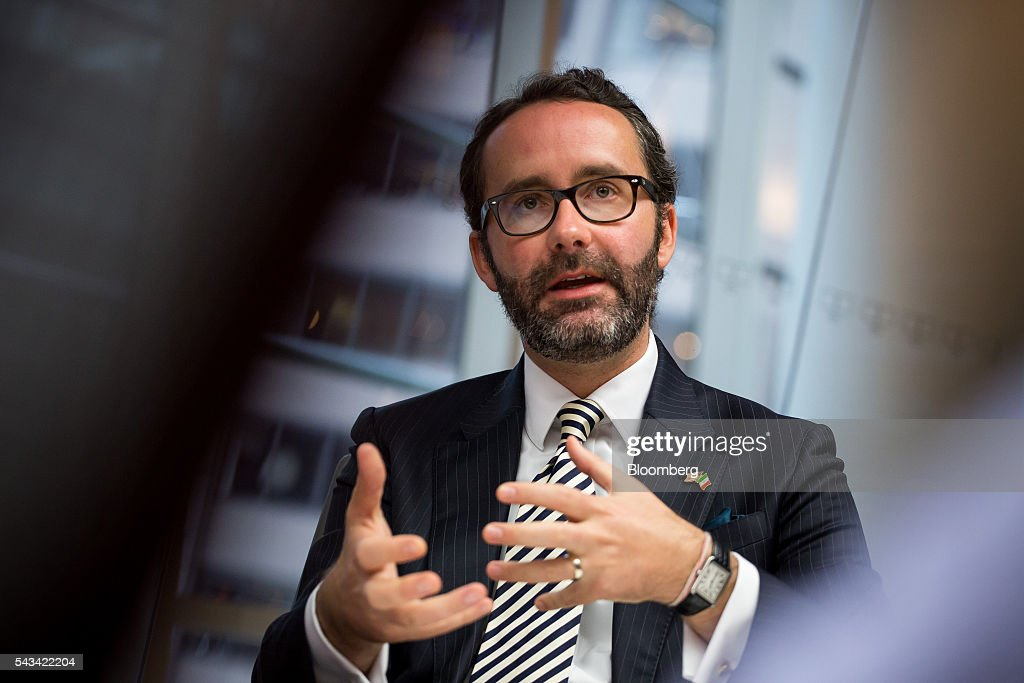 Diego Gomez Pickering, newly-appointed consul general of Mexico in New York, speaks during an interview in New York, U.S., on Tuesday, June 28, 2016. Pickering discussed the value of Mexico's trade for strengthening the U.S. economy. Photographer: Michael Nagle/Bloomberg via Getty Images
