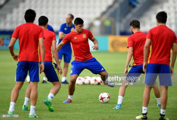 Diego Gonzlez of Spain during a training session on June 26 2017 in Krakow Poland