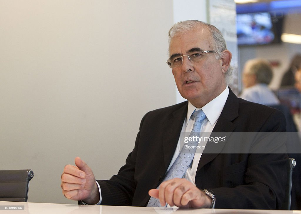 Diego Hernandez, chief executive officer of Codelco, speaks during an interview in New York, U.S., on Wednesday, June 2, 2010. Codelco, which supplies about 10 percent of the world's mined copper, last year made record investments in its mines after four years of declining production. Photographer: Ramin Talaie/Bloomberg via Getty Images