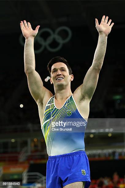 Diego Hypolito of Brazil performs during the Gymnastics Rio Gala on Day 12 of the 2016 Rio Olympic Games on August 17 2016 in Rio de Janeiro Brazil