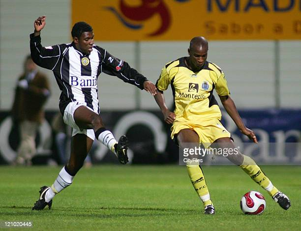 Diego Jose and CIsse during the Portuguese League match between Nacional da Madeira and Boavista in Funchal Portugal on March 16 2007