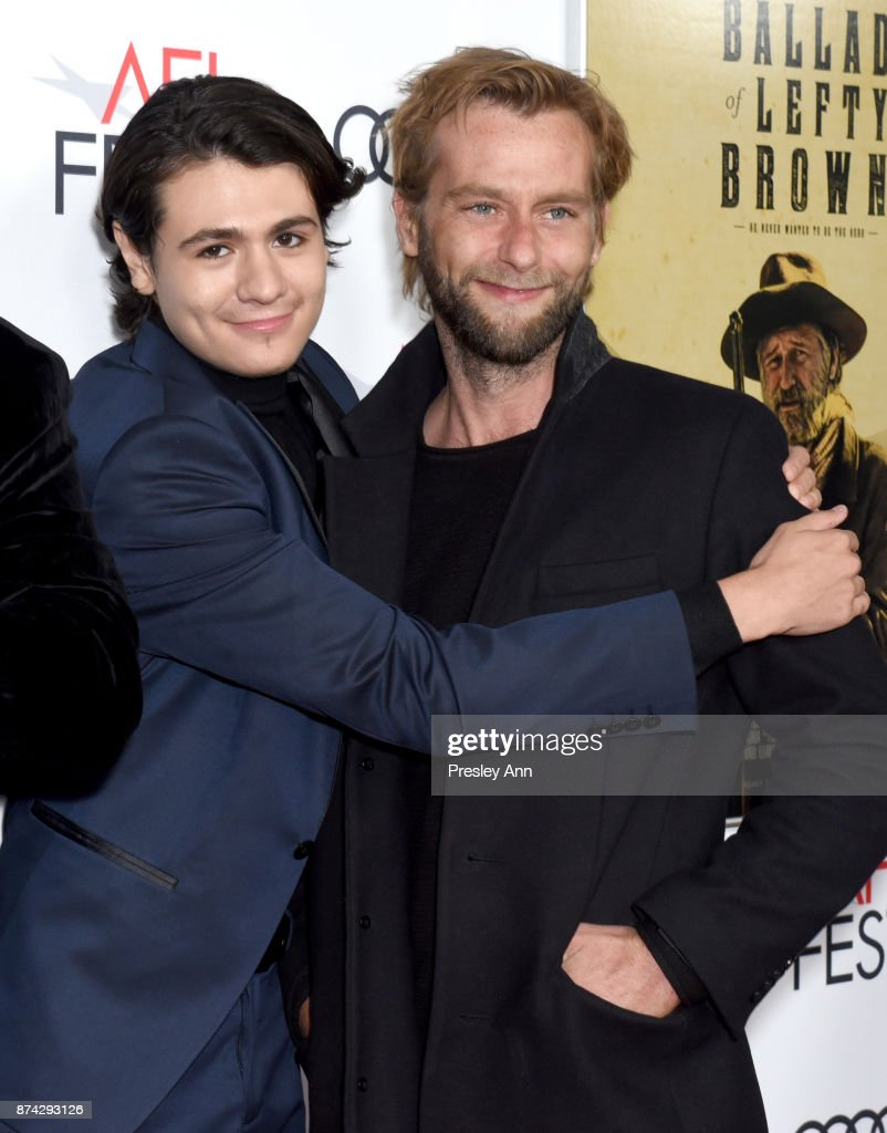 Diego Josef (L) and Joe Anderson attend the screening of 'Ballad Of Lefty Brown' at AFI FEST 2017 Presented By Audi at the Egyptian Theatre on November 14, 2017 in Hollywood, California.