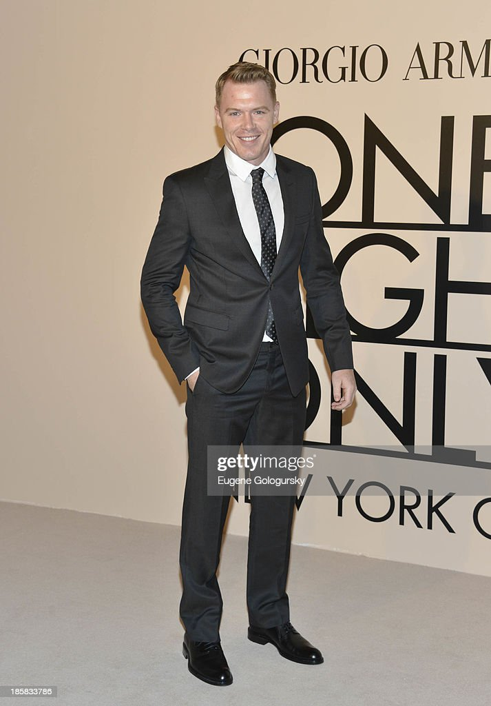 Diego Klattenhoff attends Armani - One Night Only New York at SuperPier on October 24, 2013 in New York City.