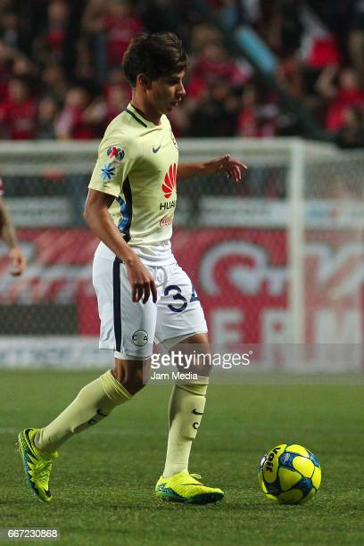 Diego Lainez of America drives the ball during the 13th round match between Tijuana and America as part of the Torneo Clausura 2017 Liga MX at...