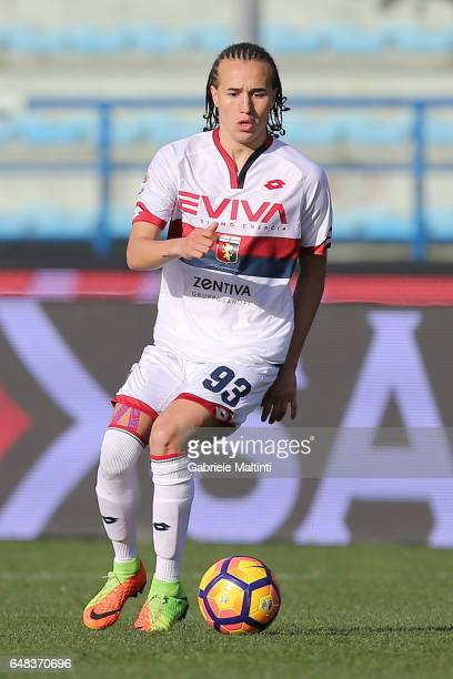Diego Laxalt of Genoa CFC in action during the Serie A match between Empoli FC and Genoa CFC at Stadio Carlo Castellani on March 5 2017 in Empoli...