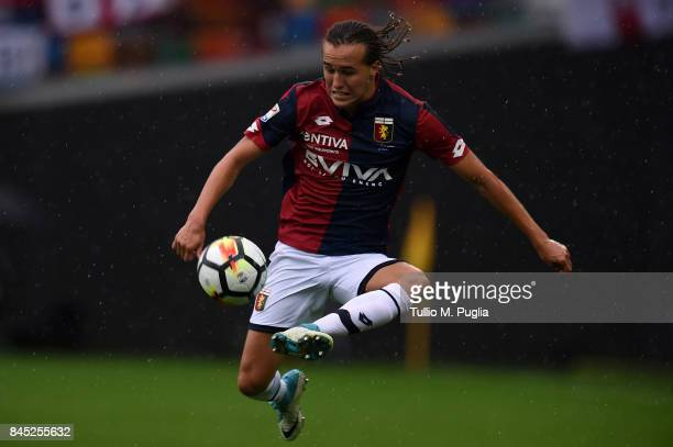 Diego Laxalt of Genoa controls the ball during the Serie A match between Udinese Calcio and Genoa CFC at Stadio Friuli on September 10 2017 in Udine...