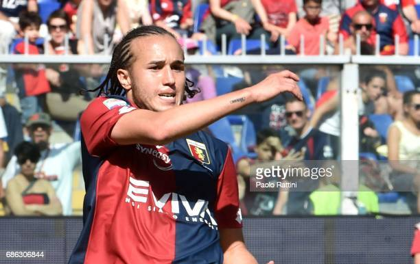 Diego Laxalt of Genoa during the Serie A match between Genoa CFC and FC Torino at Stadio Luigi Ferraris on May 21 2017 in Genoa Italy