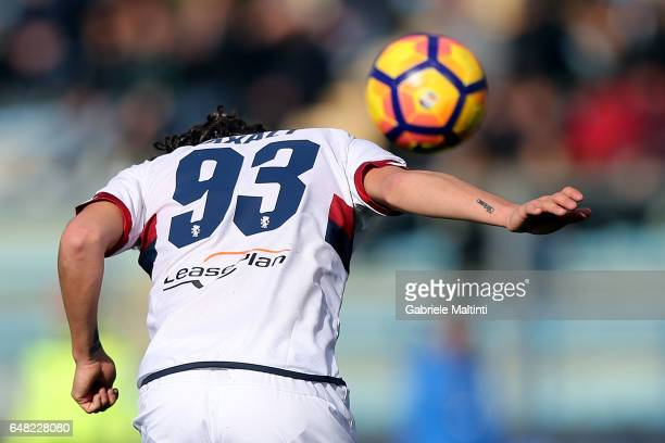 Diego Laxalt of Gernoa CFC in action during the Serie A match between Empoli FC and Genoa CFC at Stadio Carlo Castellani on March 5 2017 in Empoli...