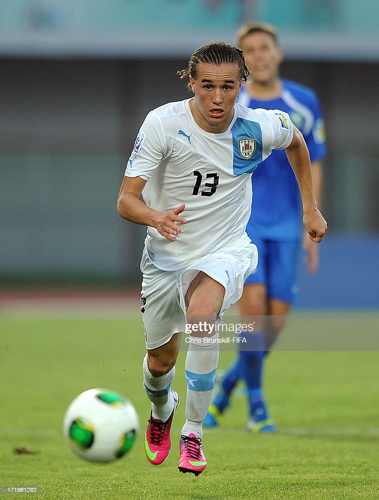 Diego Laxalt of Uruguay in action during the FIFA U20 World Cup Group F match between Ukbekistan and Uruguay at Akdeniz University Stadium on June 29, 2013 in Antalya, Turkey.
