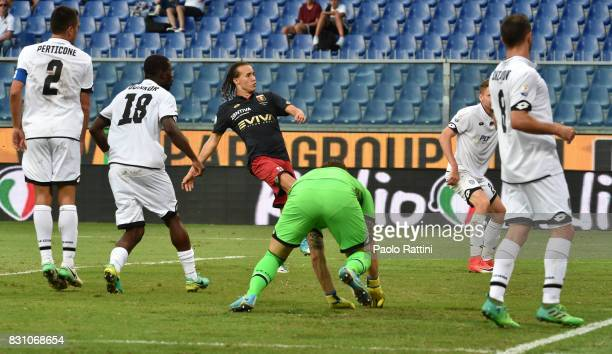 Diego Laxalt score gol 21 during the TIM Cup match between Genoa CFC and AC Cesena at Stadio Luigi Ferraris on August 13 2017 in Genoa Italy