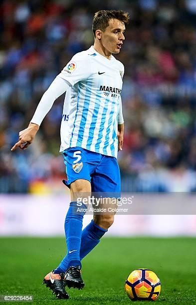 Diego Llorente of Malaga CF in action during La Liga match between Malaga CF and Granada CF at La Rosaleda Stadium December 9 2016 in Malaga Spain