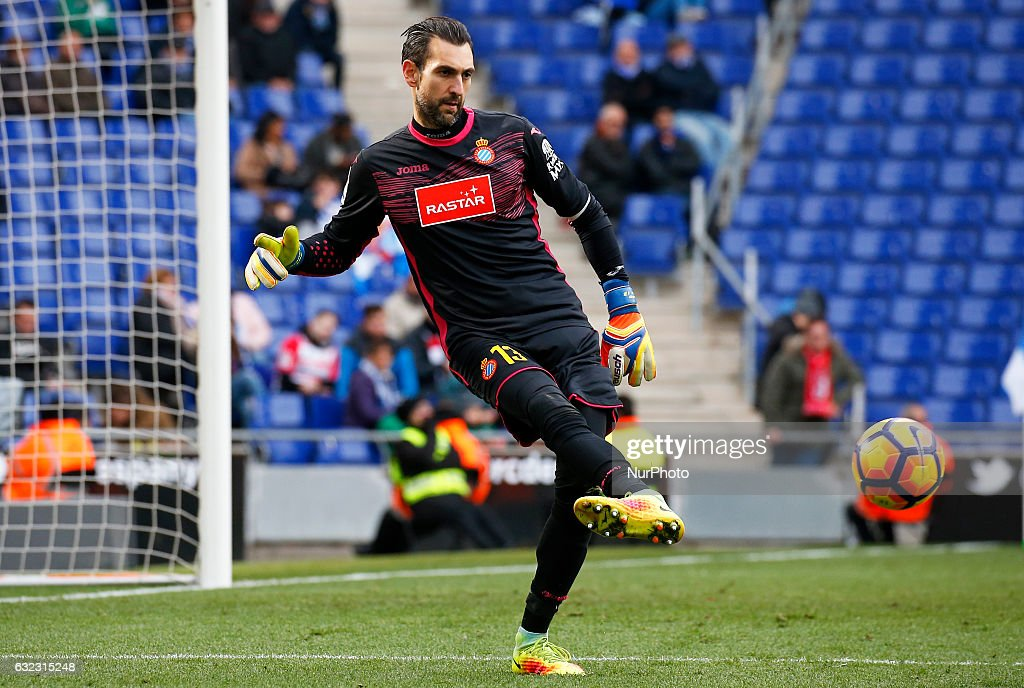 Diego Lopez during the match between RCD Espanyol and Granada CF, on January 21, 2017.