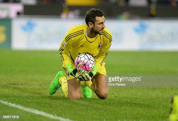 Diego Lopez goalkeeper of AC Milan during the Serie A match between Udinese Calcio and AC Milan at Stadio Friuli on September 22 2015 in Udine Italy