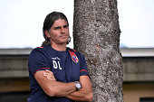 Diego Lopez head coach of Bologna FC stands during the preseason frienldy match between FC Bologna and US Sassuolo on August 6 2014 in Modena Italy