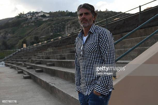 Diego Lopez new head coach of US Citta' di Palermo arrives at Tenente Carmelo Onorato Sports Center on January 26 2017 in Palermo Italy