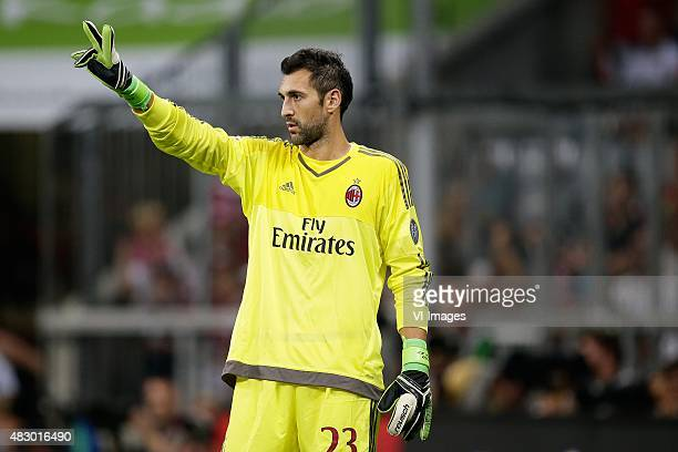 Diego Lopez of AC Milan during the AUDI Cup match between FC Bayern Munich and AC Milan on August 4 2015 at the Allianz Arena in Munich Germany