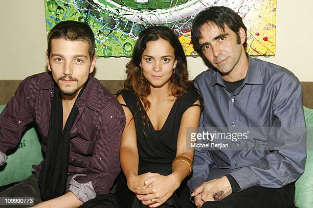 Diego Luna Alice Braga and Carlos Bolado during 2006 Park City Heineken Lounge Hosts Solo Dios Sabe Party at Village at the Lift in Park City Utah...