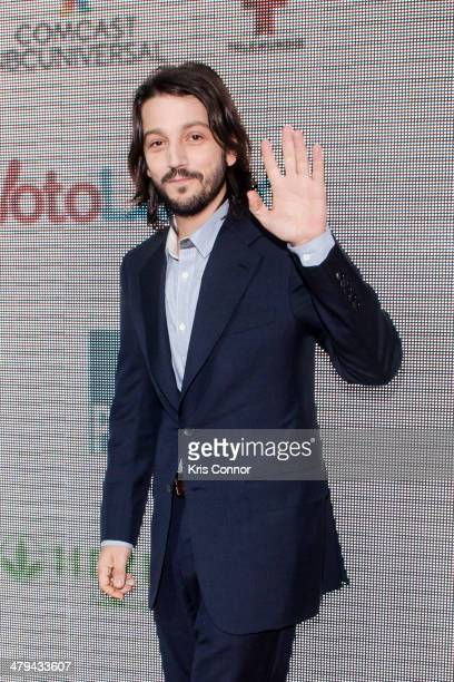 Diego Luna attends the 'Cesar Chavez' premiere at The Newseum on March 18 2014 in Washington DC