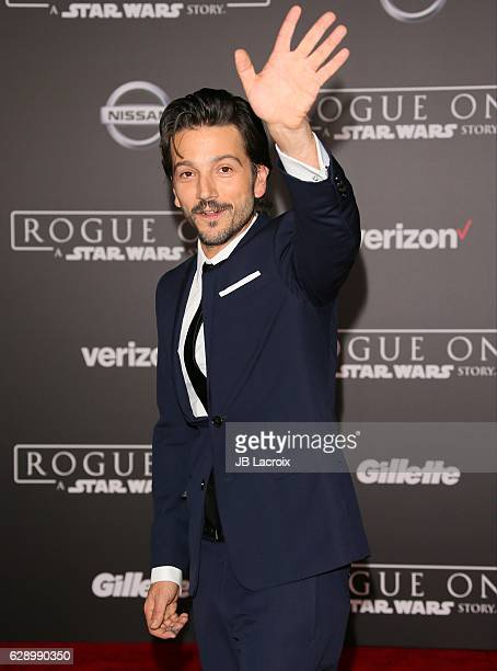 Diego Luna attends the Premiere of Walt Disney Pictures and Lucasfilm's 'Rogue One A Star Wars Story' on December 10 2016 in Hollywood California