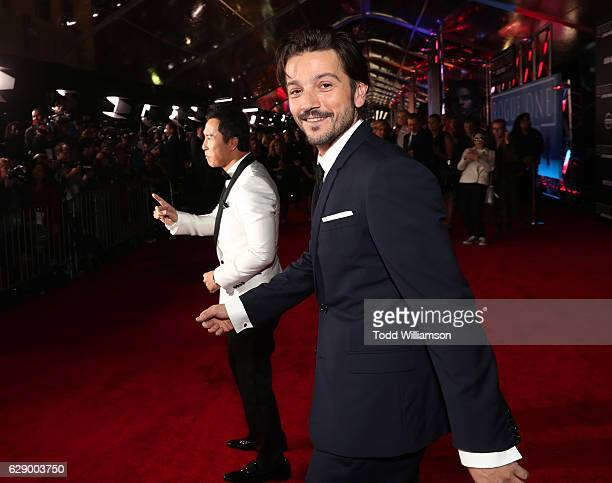 Diego Luna attends the premiere of Walt Disney Pictures And Lucasfilm's 'Rogue One A Star Wars Story' at the Pantages Theatre on December 10 2016 in...