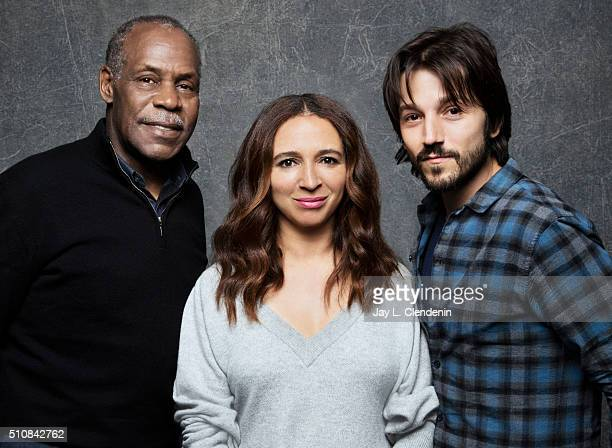 Diego Luna Danny Glover and Maya Rudolph of the film 'Mr Pig' pose for a portrait at the 2016 Sundance Film Festival on January 25 2016 in Park City...