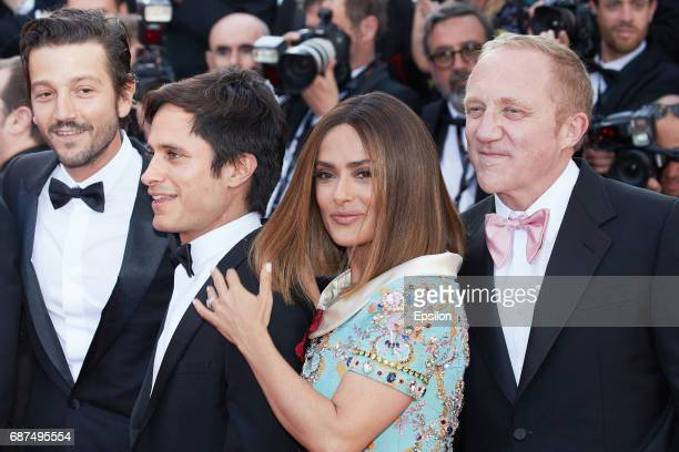 Diego Luna Gael Garcia Bernal Salma Hayek and FrancoisHenri Pinault attend the 70th Anniversary of the 70th annual Cannes Film Festival at Palais des...