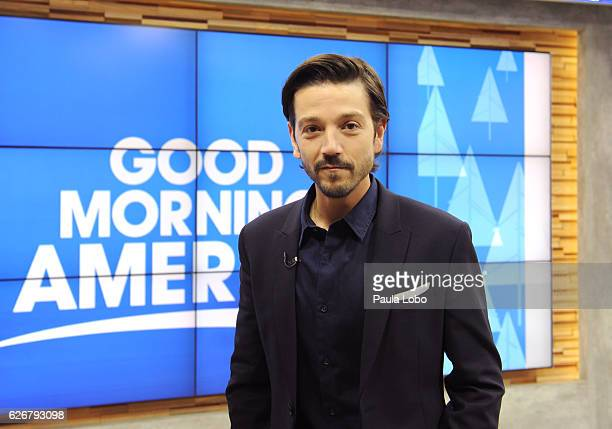 AMERICA Diego Luna is a guest on 'Good Morning America' 11/30/16 airing on the ABC Television Network DIEGO