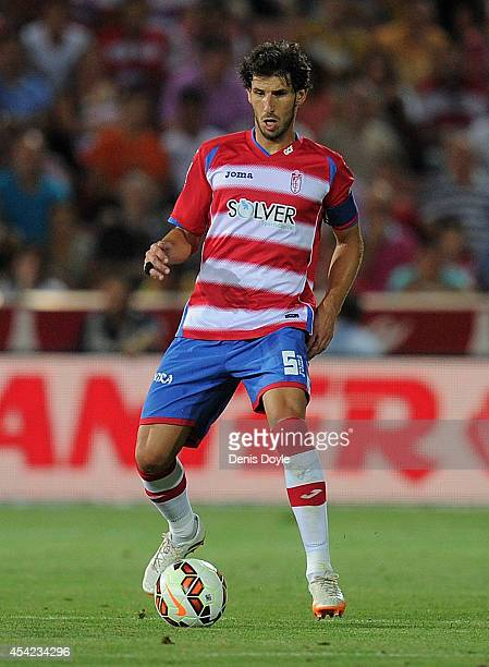 Diego Mainz of Granada CF in action during the La liga match between Granada CF and RC Deportivo La Coruna at Estadio Nuevo Los Carmenes on August 23...