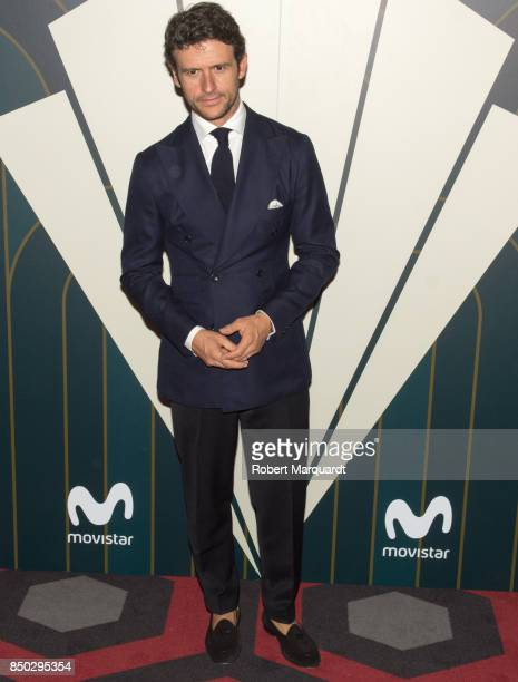 Diego Martin poses during a photocall for the premiere of 'Velvet' at the Sala Phenomena on September 20 2017 in Barcelona Spain