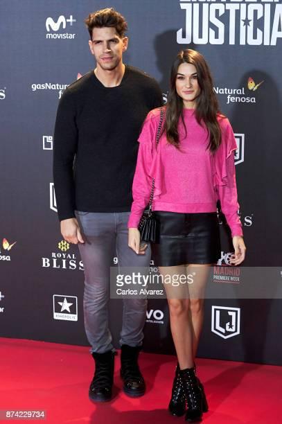 Diego Matamoros and Estela Grande attend 'La Liga de La Justicia' premiere at the Kinepolis cinema on November 14 2017 in Madrid Spain