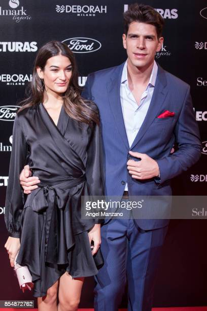 Diego Matamoros and Estela Grande attend 'Lecturas' Magazine Centenary Party photocall at Florida Retiro on September 27 2017 in Madrid Spain
