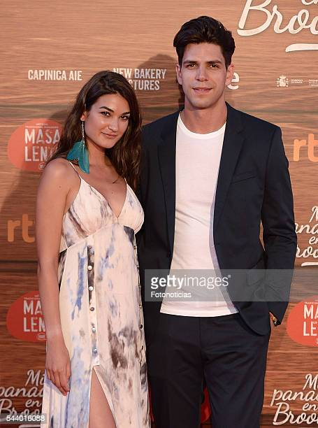 Diego Matamoros and guest attend the 'Mi Panaderia de Brooklyn' premiere at Capitol cinema on June 30 2016 in Madrid Spain