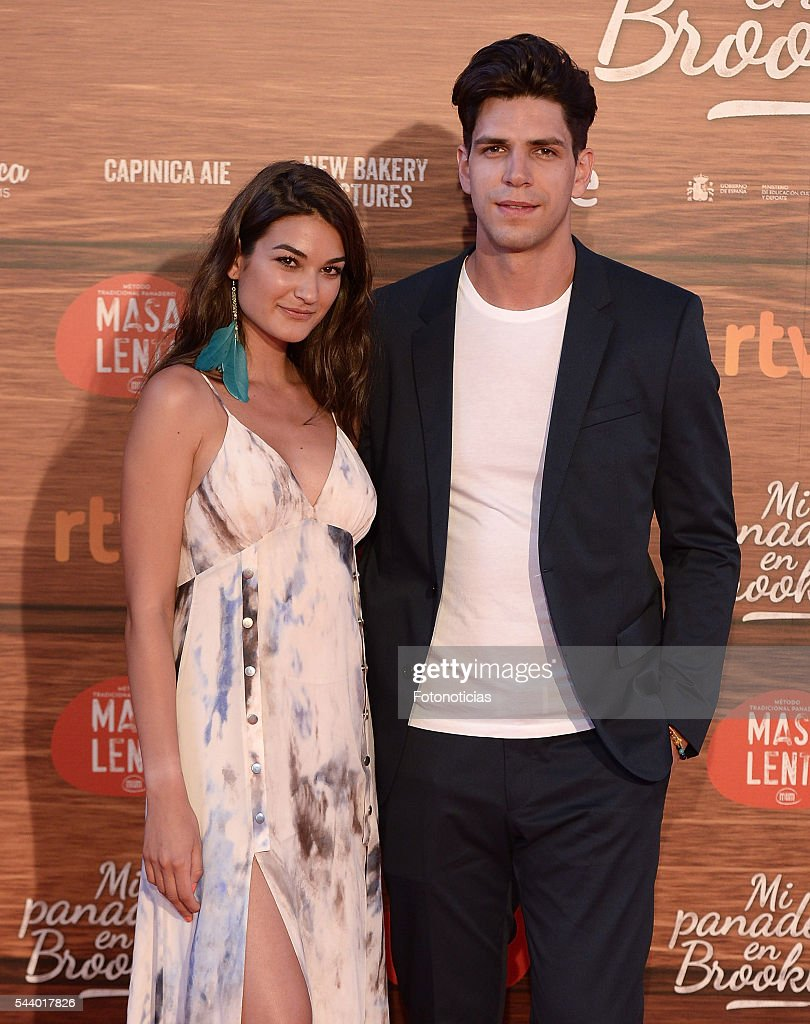 Diego Matamoros (R) and guest attend the 'Mi Panaderia de Brooklyn' premiere at Capitol cinema on June 30, 2016 in Madrid, Spain.