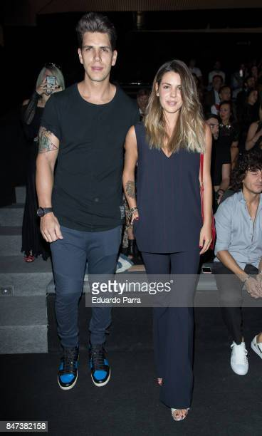 Diego Matamoros and Lara Matamoros attend the Ulises Merida catwalk at Ifema on September 15 2017 in Madrid Spain