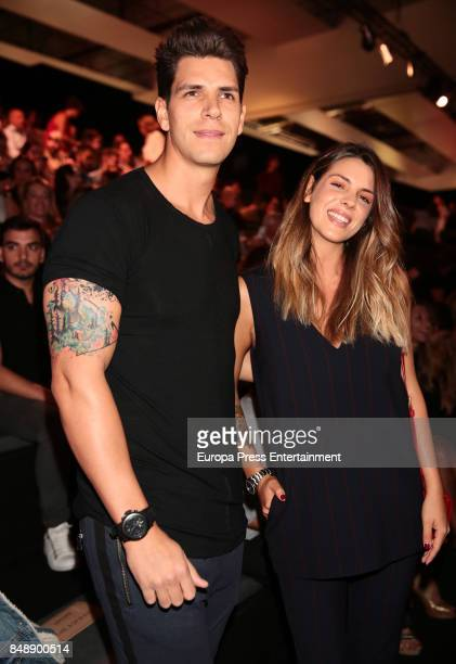 Diego Matamoros and Laura Matamoros are seen during MercedesBenz Fashion Week Madrid Spring/Summer 2018 at Ifema on September 15 2017 in Madrid Spain