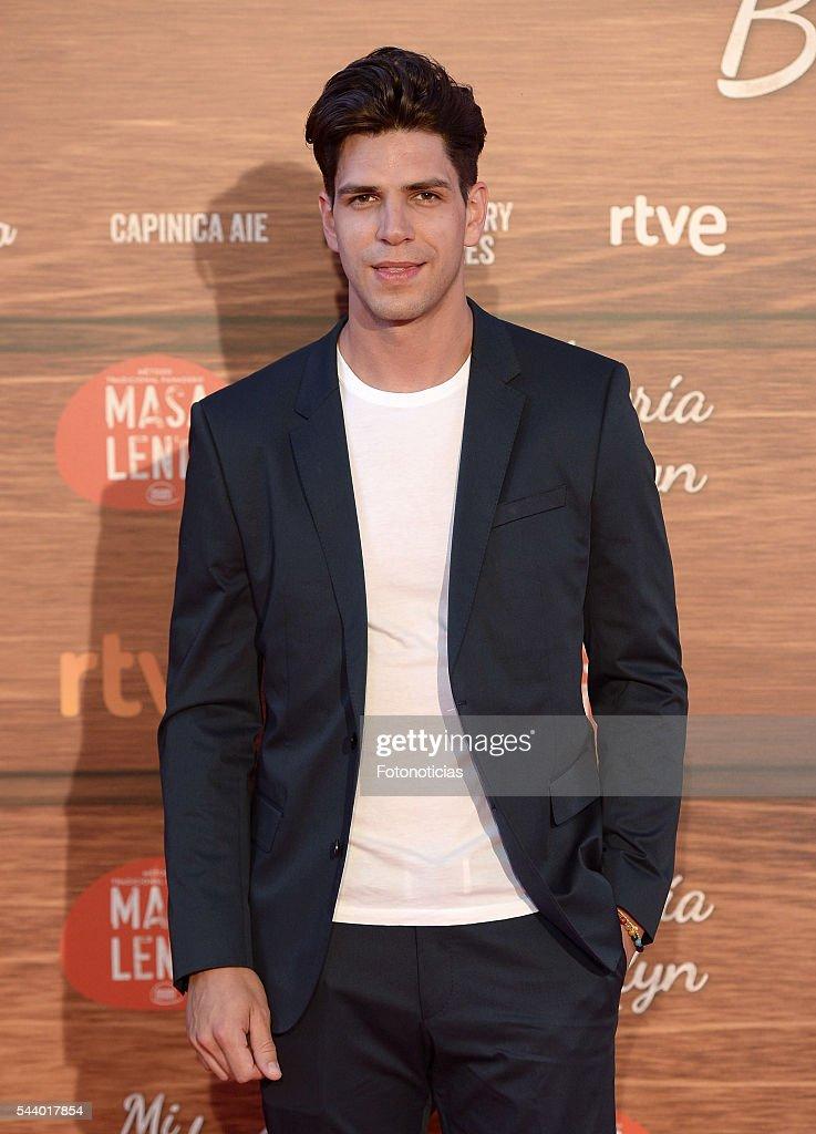 Diego Matamoros attends the 'Mi Panaderia de Brooklyn' premiere at Capitol cinema on June 30, 2016 in Madrid, Spain.