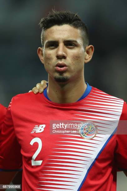 Diego Mesen of Costa Rica during his teams national anthem during the FIFA U20 World Cup Korea Republic 2017 group C match between Costa Rica and...