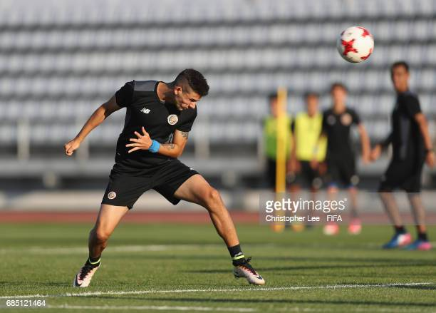 Diego Mesen of Costa Rica in action during their training Session at Kang Chang Hak Stadium on May 19 2017 in Jeju South Korea