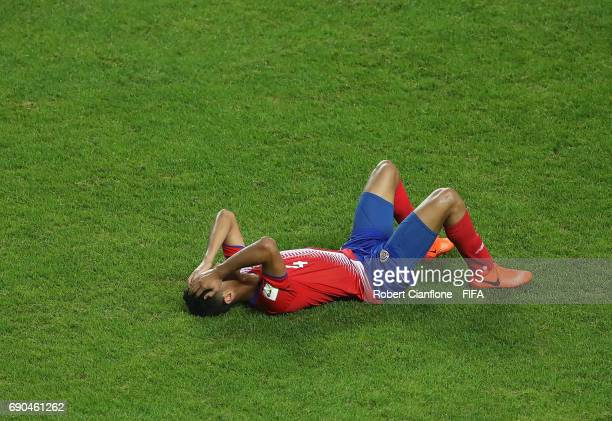 Diego Mesen of Costa Rica is dejected after Costa Rica were defeated by England during the FIFA U20 World Cup Korea Republic 2017 Round of 16 match...