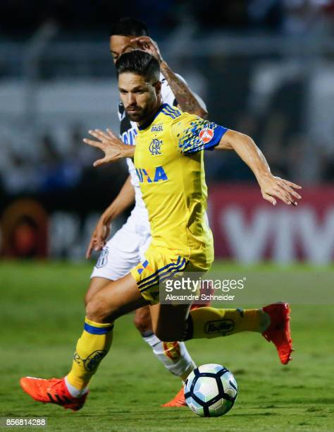 Diego of Flamengo in action during the match between Ponte Preta and Flamengo for the Brasileirao Series A 2017 at Moises Lucarelli Stadium on...