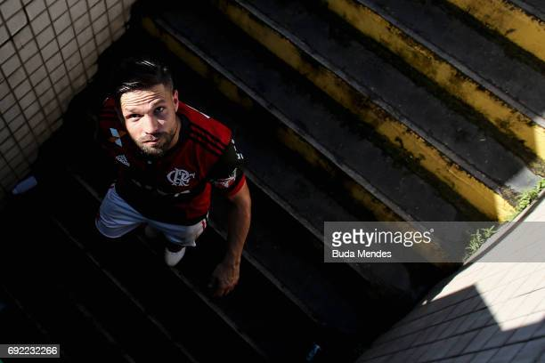 Diego of Flamengo looks on after a match between Flamengo and Botafogo as part of Brasileirao Series A 2017 at Raulino de Oliveira Stadium on June 4...