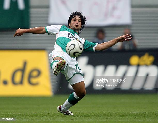 Diego of Werder Bremen in action during the Liga Cup Final between Bayern Munich and Werder Bremen at the Zentral Stadium on August 5 2006 in Leipzig...