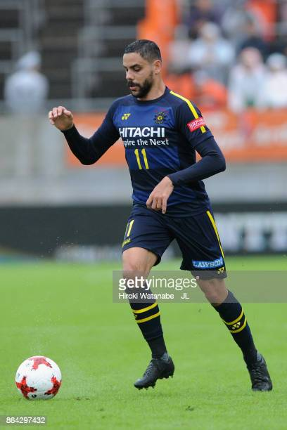 Diego Oliveira of Kashiwa Reysol in action during the JLeague J1 match between Omiya Ardija and Kashiwa Reysol at NACK 5 Stadium Omiya on October 21...