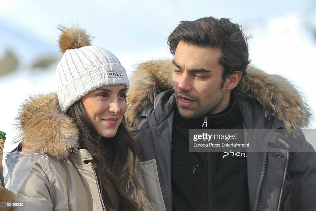 Diego Osorio and Tamara Falco attend Moet Winter Lounge In Baqueira ski resort on December 13 2014 in Baqueira Beret Spain