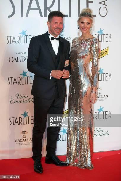 Diego Pablo Simeone and Carla Pereyra attend Starlite Gala on August 13 2017 in Marbella Spain